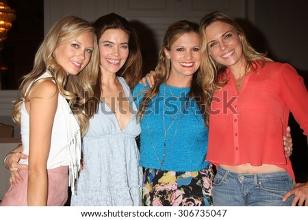"LOS ANGELES - AUG 15:  Melissa Ordway, Amelia Heinle, Melissa Claire Egan, Kelly Sullivan at the ""The Young and The Restless"" Fan Event at the Sheraton Hotel on August 15, 2015 in Universal City, CA"