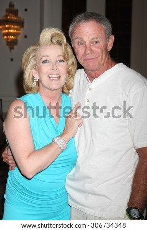 "LOS ANGELES - AUG 15:  Melody Thomas Scott, Tristan Rogers at the ""The Young and The Restless"" Fan Club Event at the Universal Sheraton Hotel on August 15, 2015 in Universal City, CA"