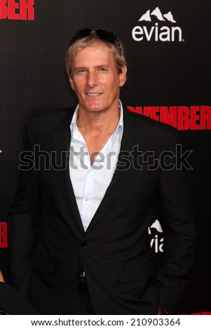 """LOS ANGELES - AUG 13:  Michael Bolton at """"The November Man"""" Premiere at TCL Chinese Theater on August 13, 2014 in Los Angeles, CA - stock photo"""