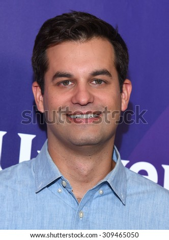 LOS ANGELES - AUG 12:  Michael Kosta arrives to the arrives to the Summer 2015 TCA's - NBCUniversal  on August 12, 2015 in Beverly Hills, CA                 - stock photo