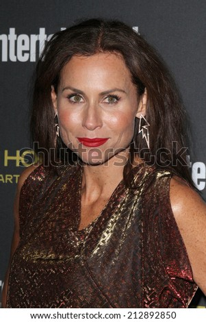 LOS ANGELES - AUG 23:  Minnie Driver at the 2014 Entertainment Weekly Pre-Emmy Party at Fig & Olive on August 23, 2014 in West Hollywood, CA - stock photo