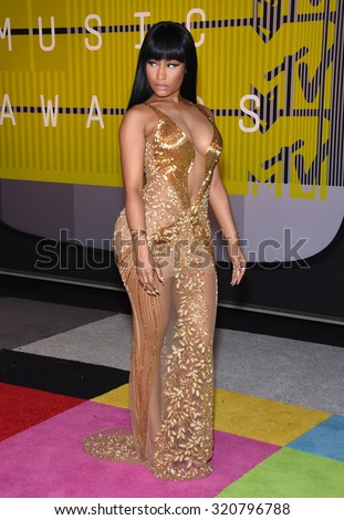 LOS ANGELES - AUG 30:  Nicki Minaj 2015 MTV Video Music Awards - Arrivals  on August 30, 2015 in Hollywood, CA                 - stock photo