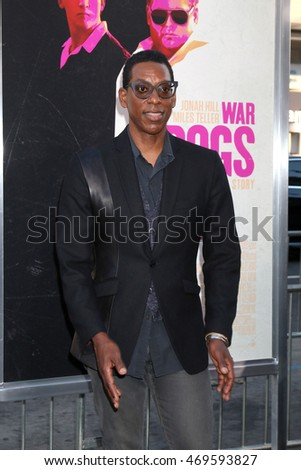 "LOS ANGELES - AUG 15:  Orlando Jones at the War Dogs"" Premiere at the TCL Chinese Theater IMAX on August 15, 2016 in Los Angeles, CA"