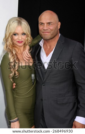 "LOS ANGELES - AUG 11:  Randy Couture at the ""Expendables 3"" Premiere at TCL Chinese Theater on August 11, 2014 in Los Angeles, CA  - stock photo"
