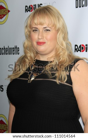 LOS ANGELES - AUG 23: Rebel Wilson at the premiere of RADiUS-TWC's 'Bachelorette' at ArcLight Cinemas on August 23, 2012 in Los Angeles, California - stock photo