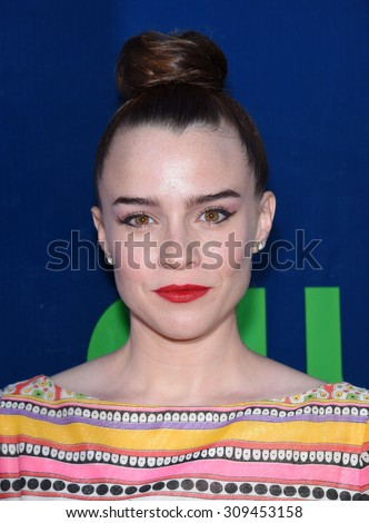 LOS ANGELES - AUG 10:  Renee Felice Smith arrives to the Summer 2015 TCA's - CBS, The CW & Showtime  on August 10, 2015 in West Hollywood, CA                 - stock photo