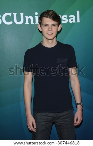 LOS ANGELES - AUG 13:  Robbie Kay at the NBCUniversal 2015 TCA Summer Press Tour at the Beverly Hilton Hotel on August 13, 2015 in Beverly Hills, CA - stock photo
