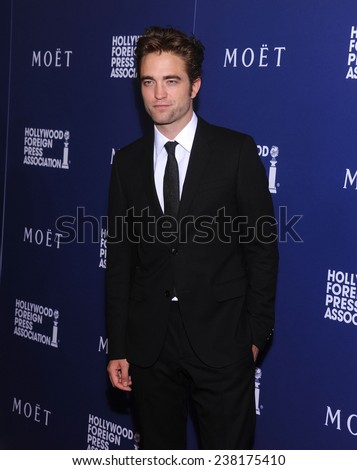 LOS ANGELES - AUG 14:  Robert Pattinson arrives to the HFPA Annual Installation Dinner 2014 on August 14, 2014 in Beverly Hills, CA                 - stock photo