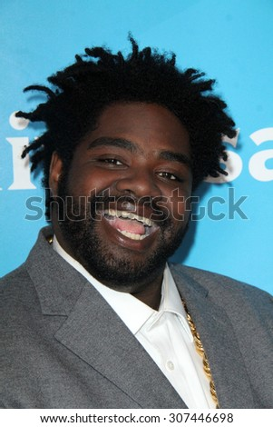 LOS ANGELES - AUG 13:  Ron Funches at the NBCUniversal 2015 TCA Summer Press Tour at the Beverly Hilton Hotel on August 13, 2015 in Beverly Hills, CA - stock photo