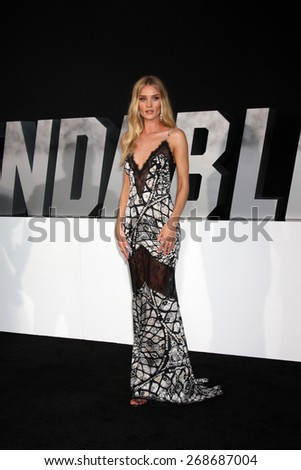 """LOS ANGELES - AUG 11:  Rosie Huntington-Whiteley at the """"Expendables 3"""" Premiere at TCL Chinese Theater on August 11, 2014 in Los Angeles, CA - stock photo"""