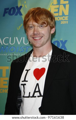 LOS ANGELES - AUG 7: Rupert Grint at the 2011 Teen Choice Awards held at Gibson Amphitheatre on August 7, 2011 in Los Angeles, California - stock photo