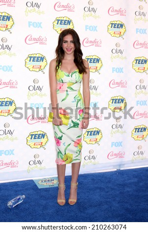LOS ANGELES - AUG 10:  Ryan Newman at the 2014 Teen Choice Awards at Shrine Auditorium on August 10, 2014 in Los Angeles, CA