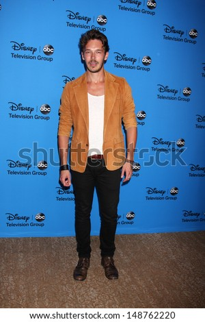 LOS ANGELES - AUG 4:  Sam Palladio arrives at the ABC Summer 2013 TCA Party at the Beverly Hilton Hotel on August 4, 2013 in Beverly Hills, CA