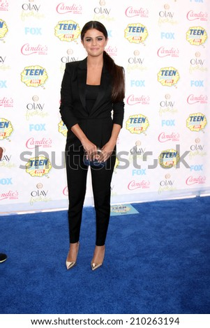 LOS ANGELES - AUG 10:  Selena Gomez at the 2014 Teen Choice Awards at Shrine Auditorium on August 10, 2014 in Los Angeles, CA - stock photo