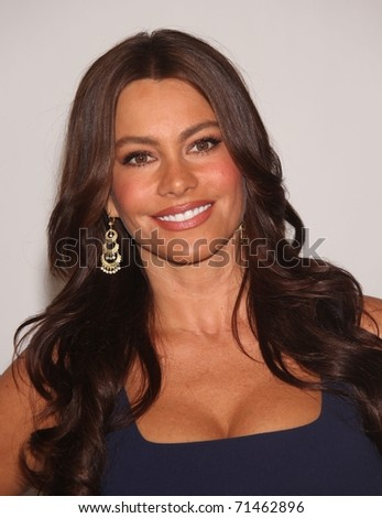 LOS ANGELES - AUG 01:  Sofia Vergara arrives at the 2010 Breakthrough Awards on August 1, 2010 in Beverly Hills, CA - stock photo