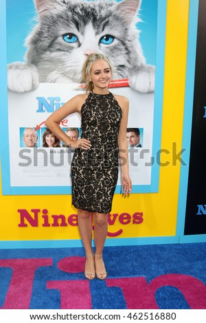 "LOS ANGELES - AUG 1:  Sophie Reynolds at the ""Nine Lives"" Premiere at the TCL Chinese Theater IMAX on August 1, 2016 in Los Angeles, CA"
