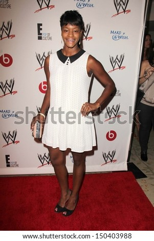LOS ANGELES - AUG 15:  Sufe Bradshaw at the Superstars for Hope honoring Make-A-Wish at the Beverly Hills Hotel on August 15, 2013 in Beverly Hills, CA - stock photo