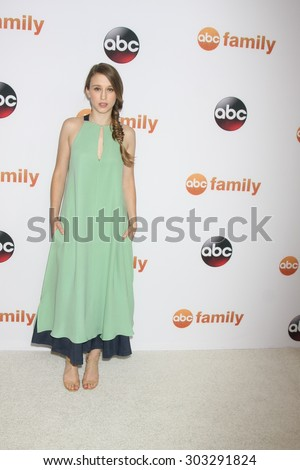 LOS ANGELES - AUG 4:  Taissa Farmiga at the ABC TCA Summer Press Tour 2015 Party at the Beverly Hilton Hotel on August 4, 2015 in Beverly Hills, CA - stock photo