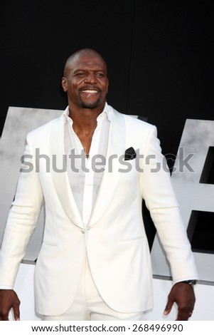 "LOS ANGELES - AUG 11:  Terry Crews at the ""Expendables 3"" Premiere at TCL Chinese Theater on August 11, 2014 in Los Angeles, CA  - stock photo"