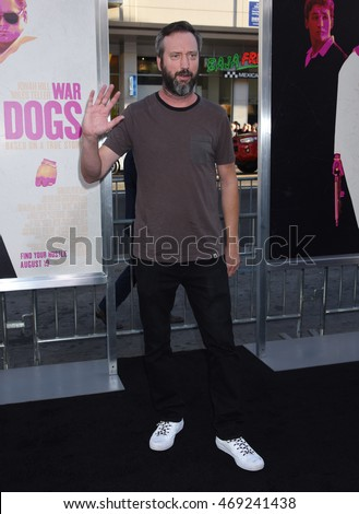 "LOS ANGELES - AUG 15:  Tom Green arrives to the ""War Dogs"" Los Angeles Premiere  on August 15, 2016 in Hollywood, CA"