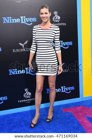 "LOS ANGELES - AUG 01:  Tricia Helfer arrives to the ""Nine Lives"" Los Angeles Premiere on August 01, 2016 in Hollywood, CA"