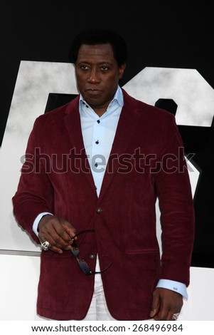 "LOS ANGELES - AUG 11:  Wesley Snipes at the ""Expendables 3"" Premiere at TCL Chinese Theater on August 11, 2014 in Los Angeles, CA  - stock photo"