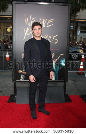 "LOS ANGELES - AUG 20:  Zac Efron at the ""We are Your Friends"" Los Angeles Premiere at the TCL Chinese Theater on August 20, 2015 in Los Angeles, CA - stock photo"