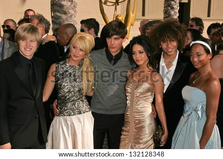 LOS ANGELES - AUGUST 19: Cast of High School Musical at the 58th Annual Creative Arts Emmy Awards on August 19, 2006 at Shrine Auditorium in Los Angeles, CA. - stock photo
