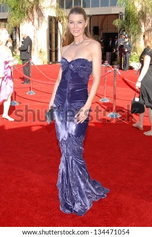 LOS ANGELES - AUGUST 27: Ellen Pompeo arriving at the 58th Annual Primetime Emmy Awards at The Shrine Auditorium on August 27, 2006 in Los Angeles, CA. - stock photo