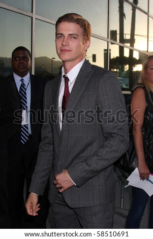"""LOS ANGELES - AUGUST 4:  Hayden Christensen. arrives at the """"Takers"""" World Premiere at ArcLight Cinerama Dome Theater on August 4, 2010 in Los Angeles, CA - stock photo"""