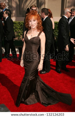 LOS ANGELES - AUGUST 19: Kathy Griffin at the 58th Annual Creative Arts Emmy Awards on August 19, 2006 at Shrine Auditorium in Los Angeles, CA.