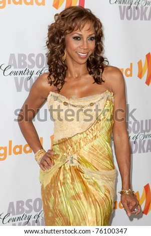 LOS ANGELES, CA. - APR 17: Actress Holly Robinson Peete arrives at the 21st Annual GLAAD Media Awards at Hyatt Regency Century Plaza Hotel on April 17, 2010 in Los Angeles, CA.