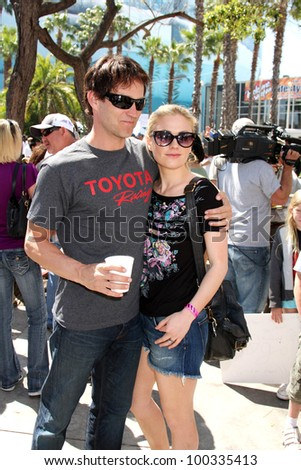 LOS ANGELES, CA - APR 16: Stephen Moyer, Anna Paquin at the Toyota Grand Prix Pro Celeb Race at Toyota Grand Prix Track on April 16, 2011 in Long Beach, California