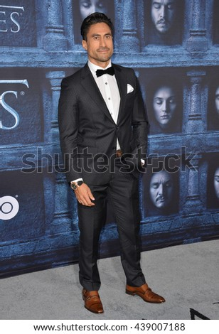 LOS ANGELES, CA. April 10, 2016: Actor Joe Naufahu at the season 6 premiere of Game of Thrones at the TCL Chinese Theatre, Hollywood.