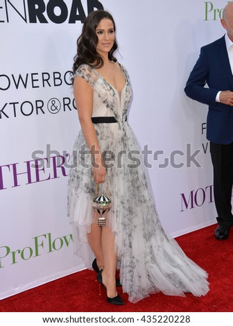 "LOS ANGELES, CA. April 13, 2016: Actress Gianna Simone at the world premiere of ""Mother's Day"" at the TCL Chinese Theatre, Hollywood."