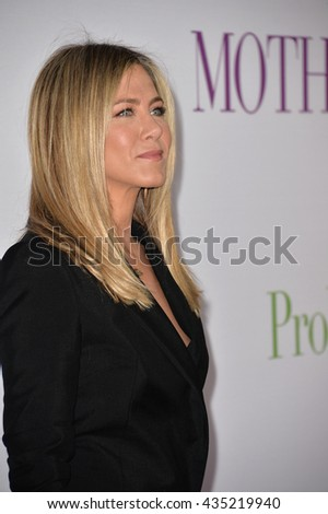 "LOS ANGELES, CA. April 13, 2016: Actress Jennifer Aniston at the world premiere of ""Mother's Day"" at the TCL Chinese Theatre, Hollywood."