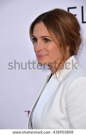 """LOS ANGELES, CA. April 13, 2016: Actress Julia Roberts at the world premiere of """"Mother's Day"""" at the TCL Chinese Theatre, Hollywood. - stock photo"""