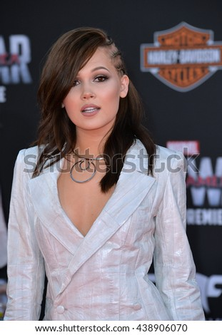 """LOS ANGELES, CA. April 12, 2016: Actress Kelli Berglund at the world premiere of """"Captain America: Civil War"""" at the Dolby Theatre, Hollywood. - stock photo"""