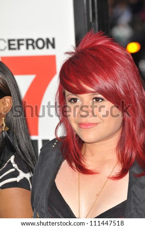 "LOS ANGELES, CA - APRIL 14, 2009: American Idol finalist Allison Iraheta at the Los Angeles premiere of ""17 Again"" at Grauman's Chinese Theatre, Hollywood. - stock photo"