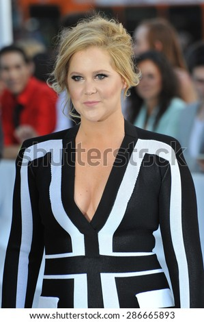 LOS ANGELES, CA - APRIL 12, 2015: Amy Schumer at the 2015 MTV Movie Awards at the Nokia Theatre LA Live.