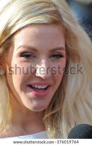 LOS ANGELES, CA - APRIL 13, 2014: Ellie Goulding at the 2014 MTV Movie Awards at the Nokia Theatre LA Live.