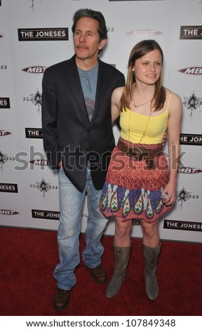"LOS ANGELES, CA - APRIL 8, 2010: Gary Cole & daughter Mary at the Los Angeles premiere of his new movie ""The Joneses"" at the Arclight Theatre, Hollywood."