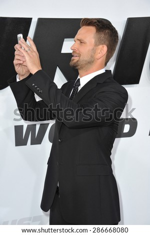 "LOS ANGELES, CA - APRIL 1, 2015: John Brotherton at the world premiere of his movie ""Furious 7"" at the TCL Chinese Theatre, Hollywood."