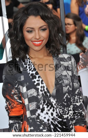 LOS ANGELES, CA - APRIL 13, 2014: Kat Graham at the 2014 MTV Movie Awards at the Nokia Theatre LA Live.