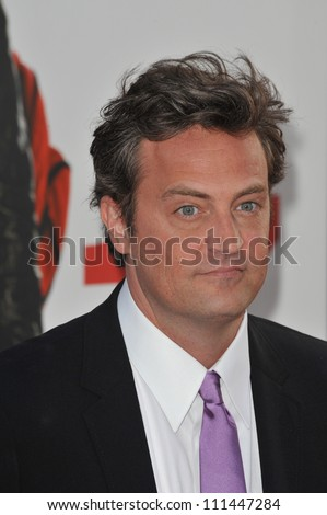"LOS ANGELES, CA - APRIL 14, 2009: Matthew Perry  at the Los Angeles premiere of his new movie ""17 Again"" at Grauman's Chinese Theatre, Hollywood."