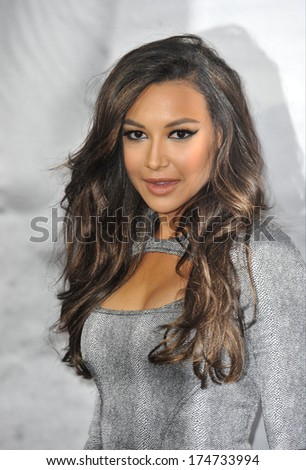 "LOS ANGELES, CA - APRIL 9, 2013: Naya Rivera at the Los Angeles premiere of ""42: The True Story of An American Legend"" at the Chinese Theatre, Hollywood."