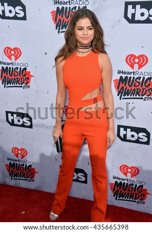 LOS ANGELES, CA. April 3, 2016. Singer/actress Selena Gomez at the iHeartRadio Music Awards 2016 at The Forum.