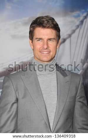 """LOS ANGELES, CA - APRIL 10, 2013: Tom Cruise at the American premiere of his new movie """"Oblivion"""" at the Dolby Theatre, Hollywood. - stock photo"""