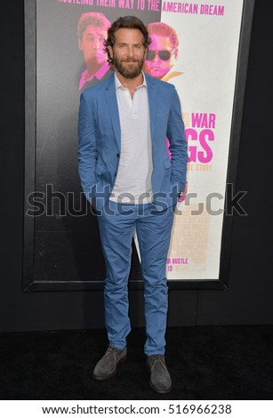 "LOS ANGELES, CA. August 15, 2016: Actor Bradley Cooper at the Los Angeles premiere of ""War Dogs"" at the TCL Chinese Theatre, Hollywood."