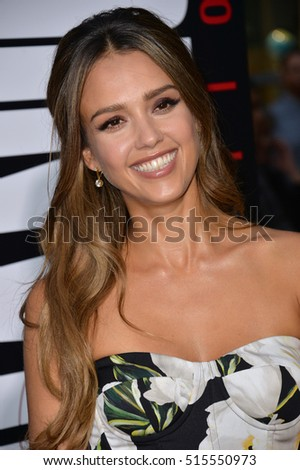 "LOS ANGELES, CA. August 22, 2016: Actress Jessica Alba at the Los Angeles premiere of ""Mechanic: Resurrection"" at the Arclight Theatre, Hollywood."